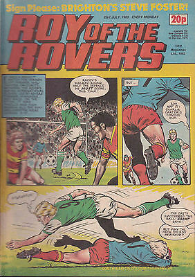 ROY OF THE ROVERS 23-07-1983 Steve Foster BRIGHTON & HOVE ALBION (Free Postage)