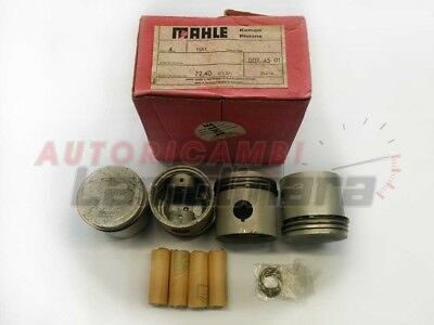 Pistons set FIAT 1100 / 1200 72,40mm 72+0,4 increased Mahle with piston rings
