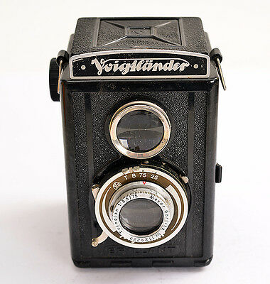 VOIGTLÄNDER Brillant *Bakelit + Trioplan 1:3,5/75 Meyer-Optik !  (0873)
