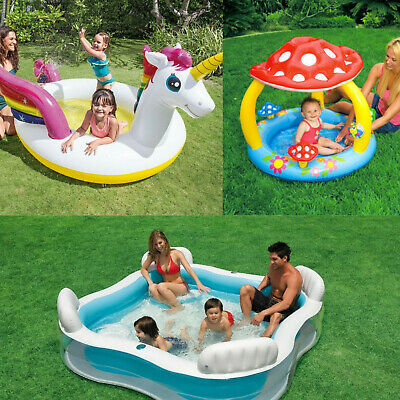 Intex Inflatable Family Outdoor Swimming Paddling Pool Play Center Garden Toy