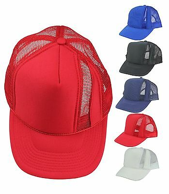 Designer Mesh Baseball Cap with Two Tone Mesh Back Hat (Comes in 5 Colors)