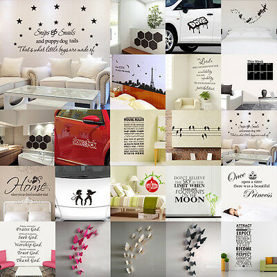 DIY Removable Wall Stickers Removable Art Decal Home Decor Wallpaper Living