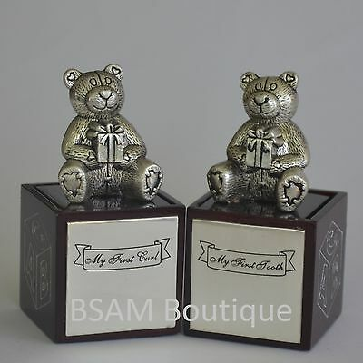 Teddy Bear 1st Tooth And 1st Curl Keepsake Boxes