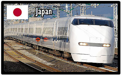 Trains (Japan) - Souvenir Novelty Fridge Magnet - Brand New
