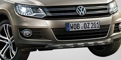 New Genuine Vw Tiguan Front + Rear Bumper Accessory Brushed Under-Run Bars