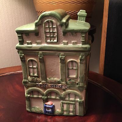 Ceramic Victorian Post Office Cookie Jar Canister Hand-Painted ~ Collectible
