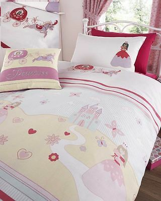 Embroidered Once Upon a Time Princess and Butterflies Single Duvet Cover Set