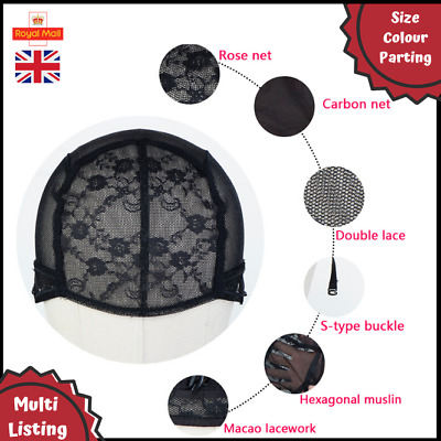 U-Part & Full Mesh Weaving Wig Caps: Breathable With Secure Adjustable Straps UK