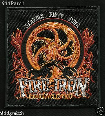 Wichita, KS - Station 54 FIRE & IRON Motorcycle Club FIREFIGHTER Patch Fire Dept