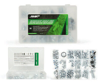 RHK Mx Kawasaki KX KX-F KXF 125 250 450 03-15 Motocross Bike 154 Piece Bolt Kit
