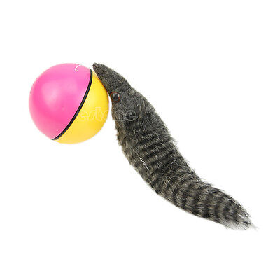 Fun Beaver Weasel Rolling Motor Ball Pet Dog Cat Kids Chaser Jumping Moving Toy
