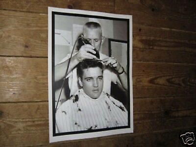 Elvis Presley Army Barber Shop Haircut POSTER