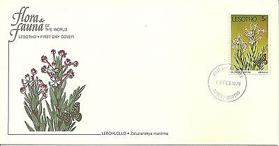 13/2/1978 Lesotho First Day Cover FDC - Flora & Fauna - Lebohlollo