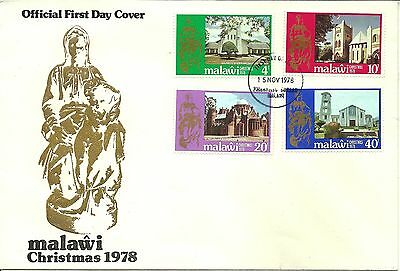 15/11/1978 Malawi First Day Cover FDC - Christmas 1978