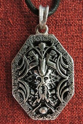 Odin Wotan Norse Warrior Viking Thor Amulet SCA Silver Plated Pendant Necklace