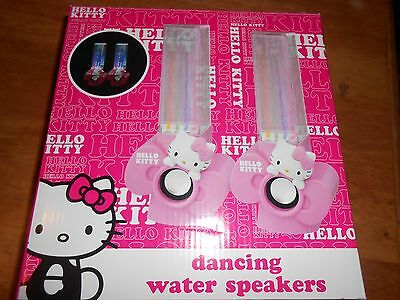 Hello Kitty Dancing Water Speakers Multi-Color LED Light Show Responds to Music