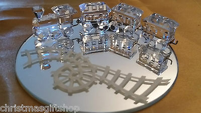 Genuine SWAROVSKI Miniature Train Set RETIRED #193014 - In original box