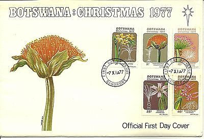 7/11/1977 Botswana First Day Cover FDC - Christmas 1977