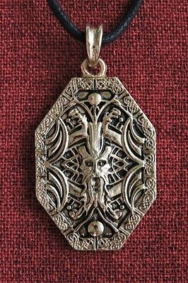 Odin Wotan Norse Warrior Viking Thor Asgard Gold Plated Amulet Pendant Necklace