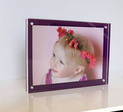 """Picture photo frame 5 x 7"""" magnetic desk 7 x 5 """" all colors newborn baby wedding"""