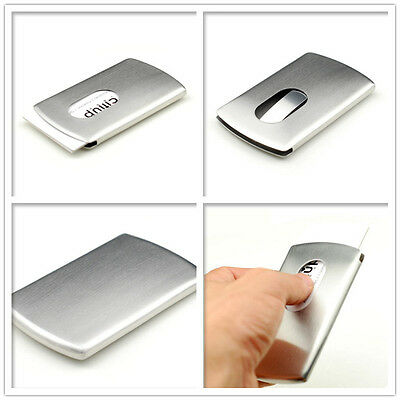 Business Card Holder Stainless Steel Case Card Cover Mens Womens Fashion Gift C6