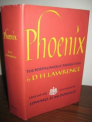1st/1st Printing thus PHOENIX D.H. Lawrence POSTHUMOUS PAPERS 1936 RARE Classic