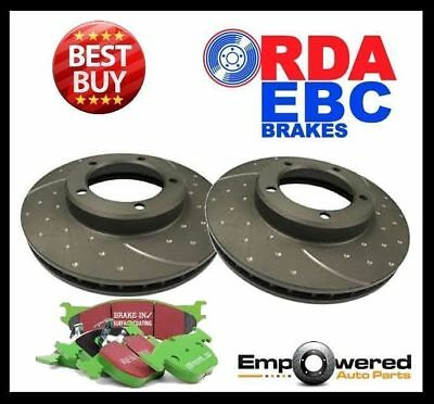 DIMPLED SLOTTED Ford Focus XR5 2.5L Turbo FRONT DISC BRAKE ROTORS + EBC PADS