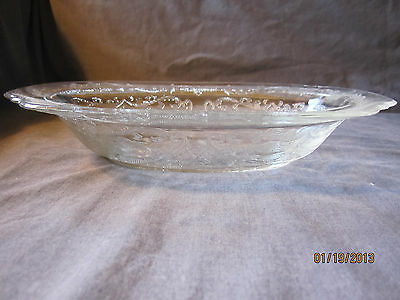10 Inch Oval Vegetable Bowl - Madrid Pattern  Federal Glass Co.Vintage 1932-1939