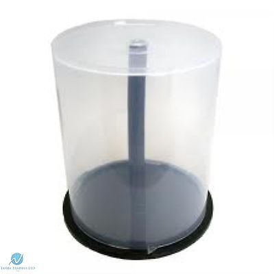 10 CD DVD Plastic Cake Tub holds 100 Disks Spindle Storage Box Empty NEW Case