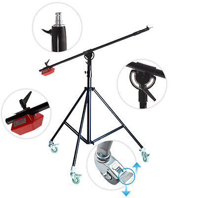 BA04 PRO Heavy Duty Boom Arm Stand STAND 4.5kg Counterweight wheels Top quality