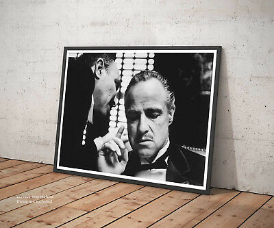 🎥 Poster IL Padrino The Godfather Marlon Brando Stampa Fine Art Cinema Film 🎥