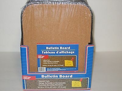 Bulletin Board Cork Message Board w/Pushpins & Magnetic Hanging Strips, Home,