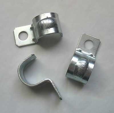"Lot (3) 1/2"" Thinwall EMT One Hole Snap-On Pipe / Conduit Clamps Straps Hangers"
