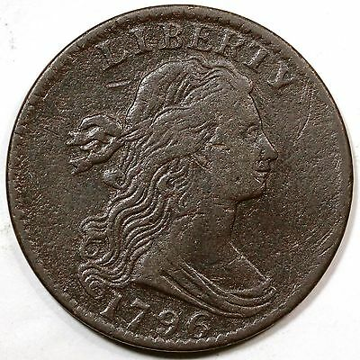 1796 S-108 R4 Draped Bust Large Cent Coin 1c