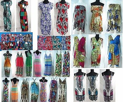US SELLER-lot of 6 sundresses, wholesale beach dress women summer clothing