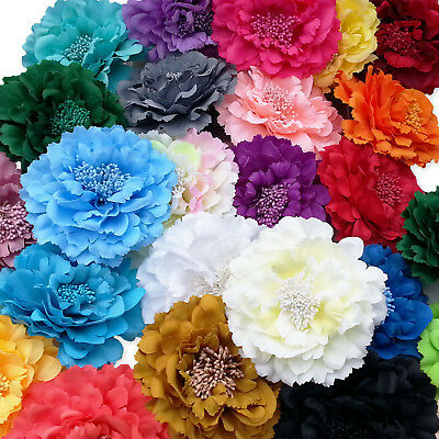 Large Flower Peony Hair Clips Grips. Wedding Bridal Bridesmaid Prom Festival