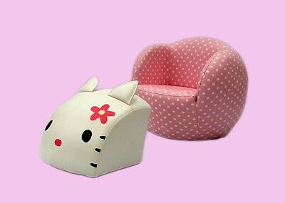 Kids' Furniture Couch Cat Sofa with Foot Stool