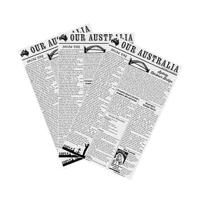 Greaseproof Paper, Newsprint / Newspaper Style, 190 x 310mm, Pkt 200