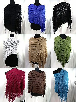 US SELLER-lot of 6 Fashion women batwing poncho sweater jumpers