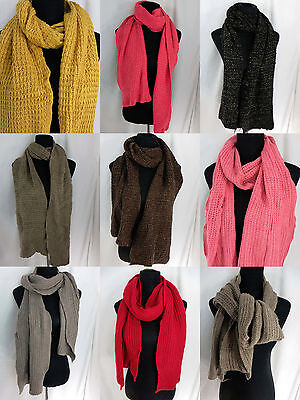 US SELLER-lot of 10 wholesale knitted scarf shawl wrap winter fall neckwarmer