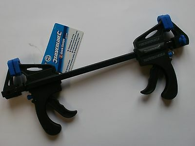 """QUICK CLAMPS 150mm RATCHETING BAR CLAMPS 6"""" WITH PUSH BUTTON RELEASE X 2. MODEL"""