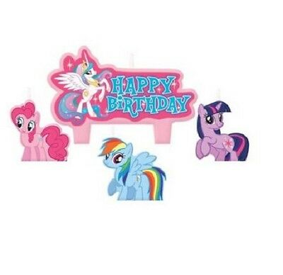 My Little Pony Birthday Party Cake Candles, set of 4, Pinkie Pie Celestia Dash