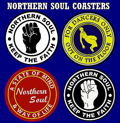 Northern Soul - Set Of 4 Coasters  Brand New - Gift