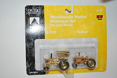 1/64 Minneapolis Moline G-750 & 5 star gold plated set, very hard to find, Ertl