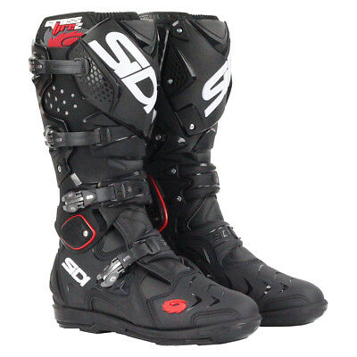 Sidi NEW 2018 Mx Crossfire 2 SRS Euro Race Dirt Bike Black Motocross Boots