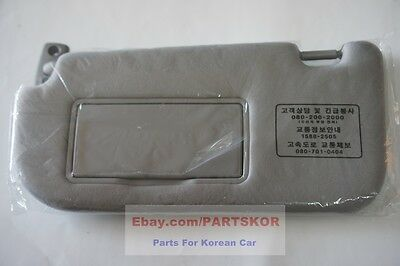 Fit 2005-2007 KIA Sportage OEM Genuine Parts Interior LH Sun Visor (Left, GRAY)