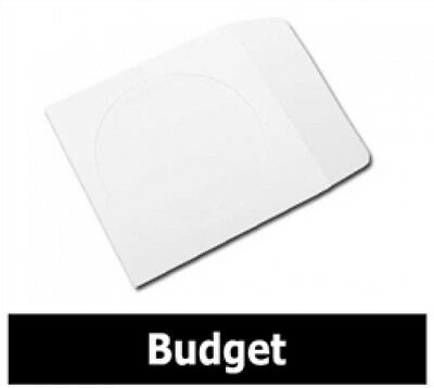 100 BUDGET Paper CD Sleeves with Window & Flap