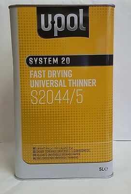 5Lt Universal 2K Car Acrylic Thinner / Paint Thinners UK Mainland Delivery