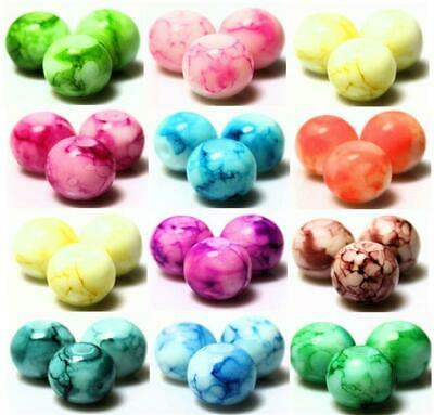 PASTEL SUMMER DRAWBENCH GLASS BEADS choose 6mm 8mm 10mm COLOUR CHOICE