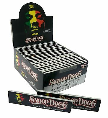 1 5 10 25 50 Snoop Dogg King Size Slim Cigarette Smoking Genuine Rolling Papers